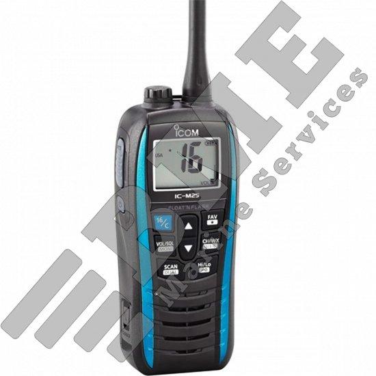 Icom M25 Floating Handheld VHF Radio – Marine Blue