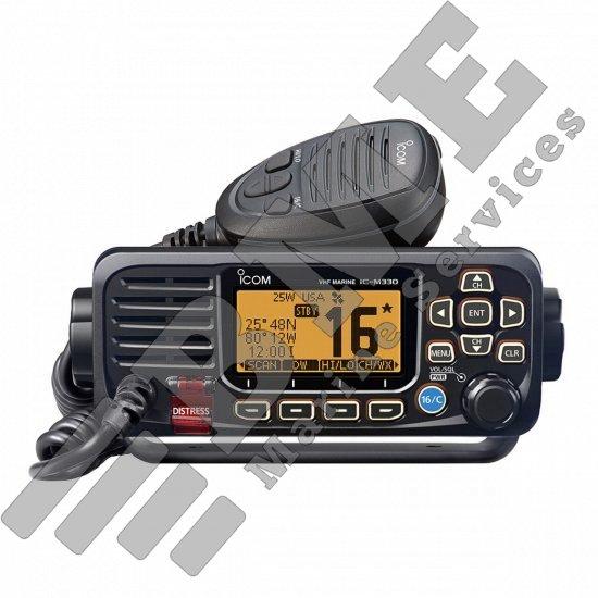 Icom M330 Compact Fixed Mount VHF Radio – Black
