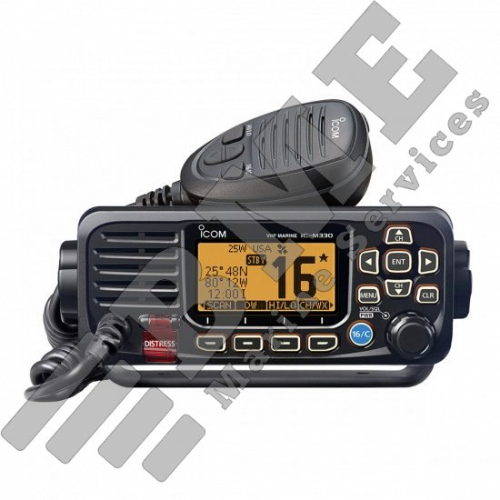 Icom M330 Compact Fixed Mount VHF Radio w/GPS – Black