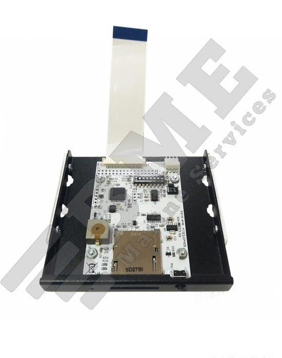 SD card reader for message terminal