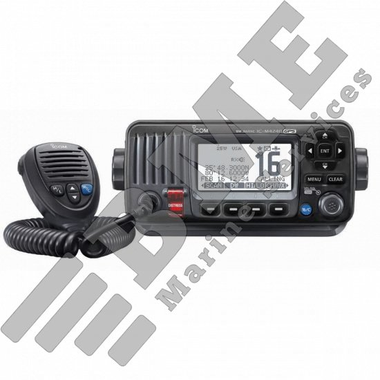 Icom M424G Fixed Mount VHF Radio w/GPS – Black